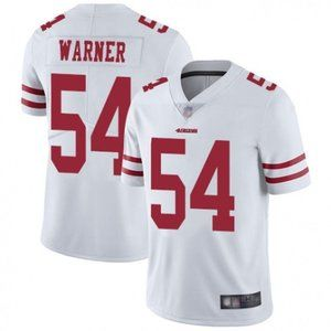 49ers Fred Warner White Jersey